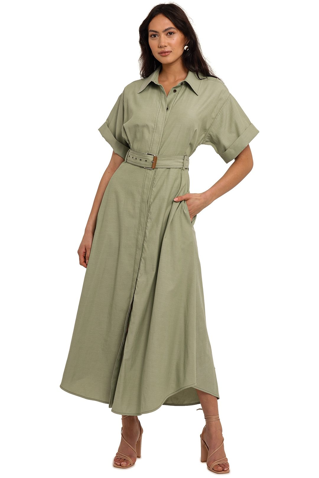 Camilla and Marc Finke Midi Shirt Dress full skirt