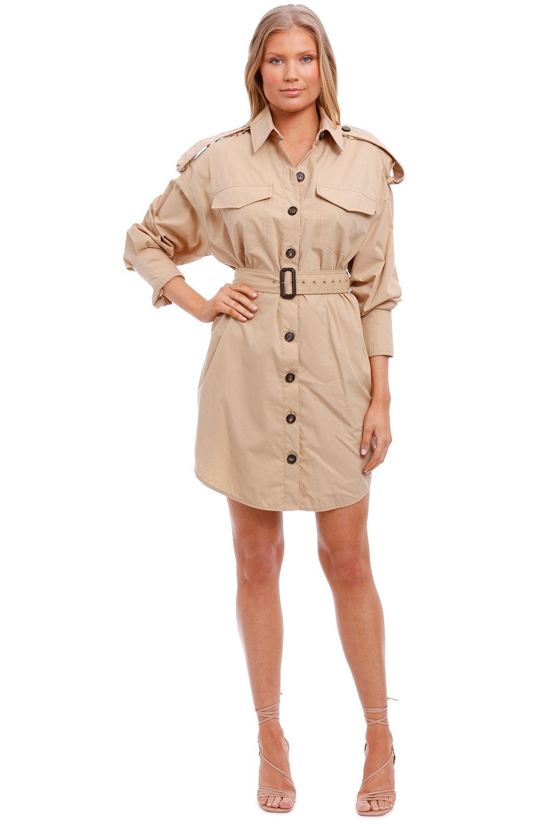 Camilla and Marc Frank Mini Shirt Dress beige