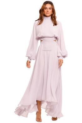 Camilla and Marc Lilac Iris Long Sleeve Midi Dress
