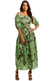 Camilla and Marc Oceo Midi Dress Green Floral
