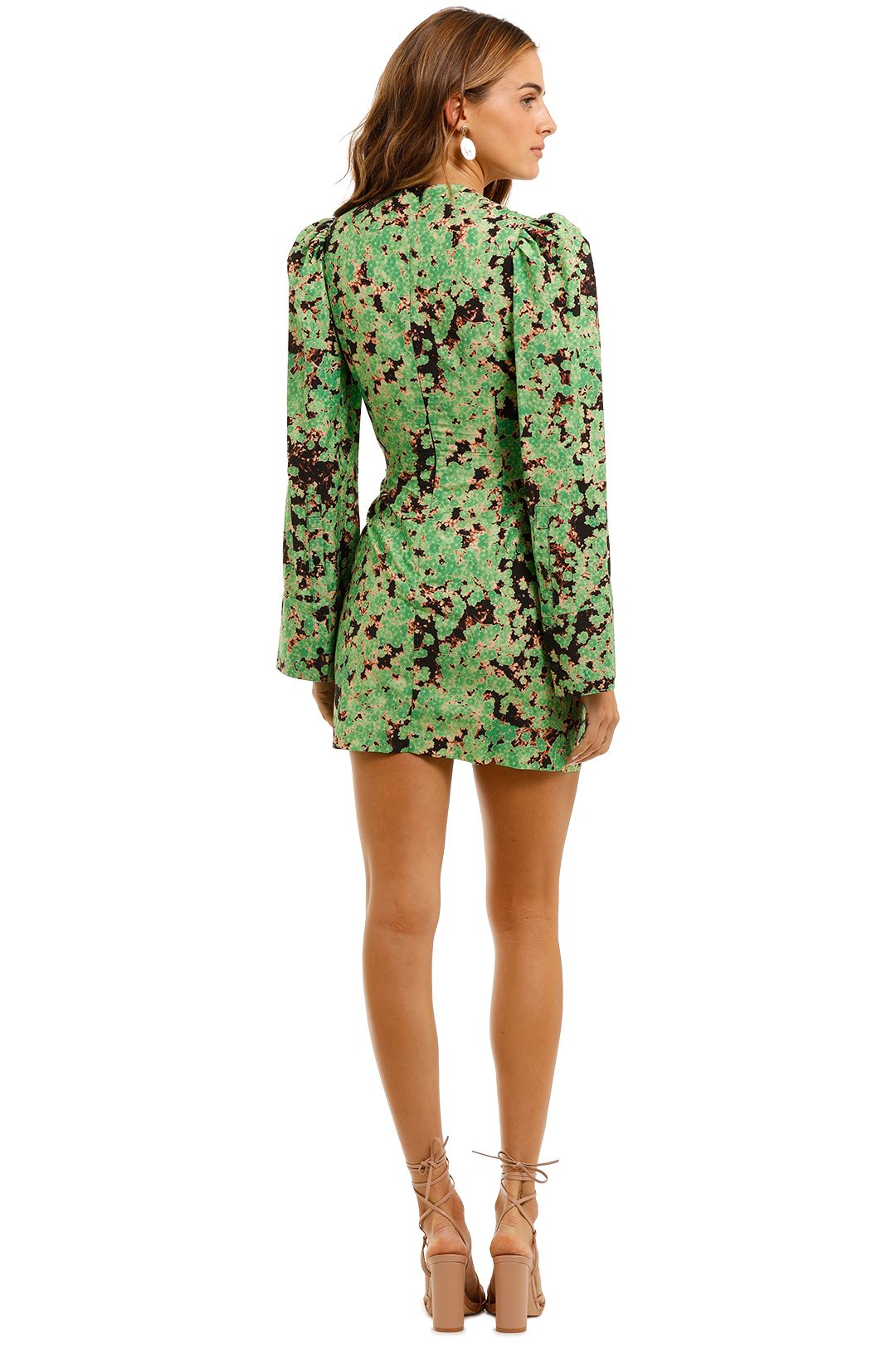 Camilla and Marc Oceo Mini Wrapdress floral green