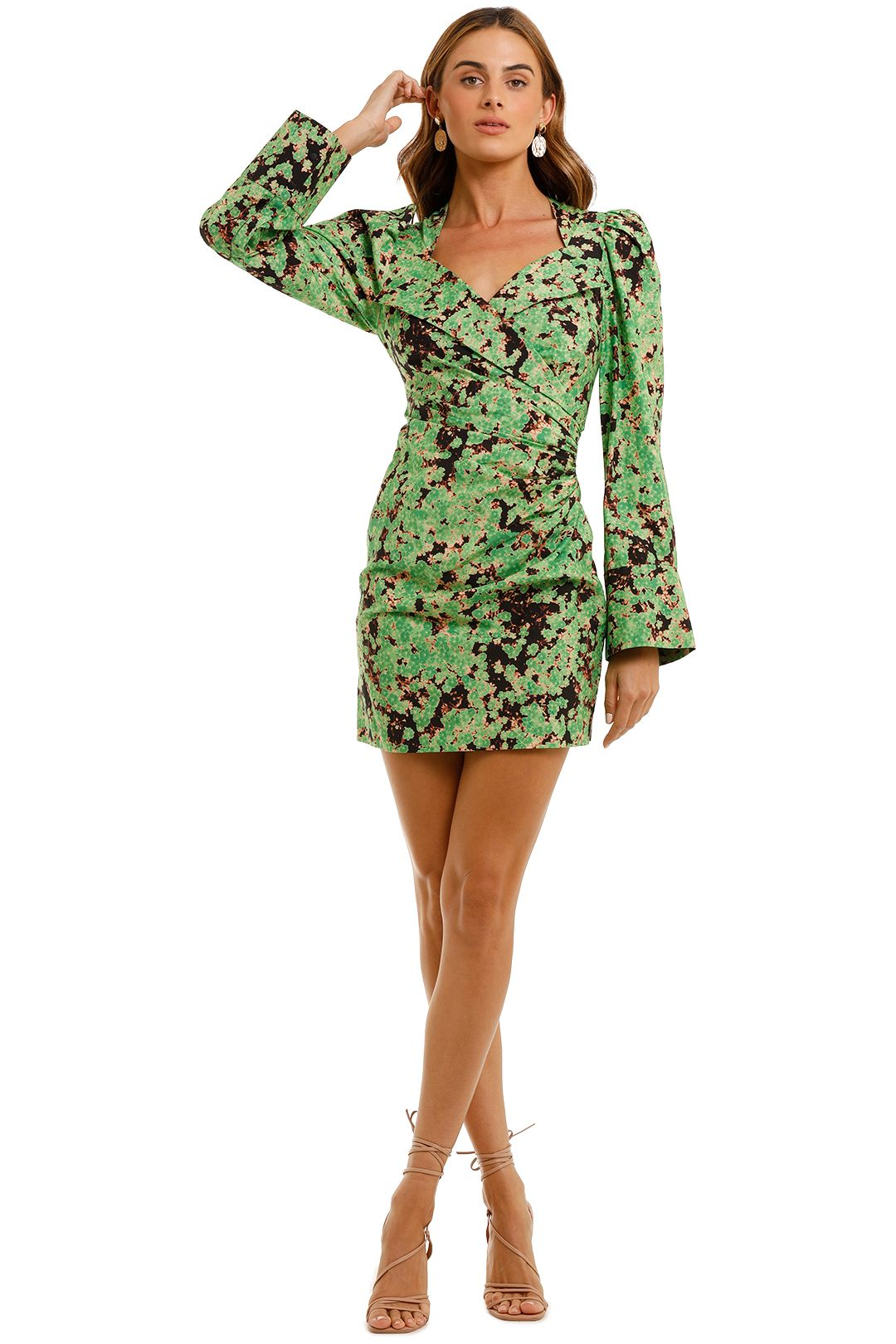 Camilla and Marc Oceo Mini Wrapdress long sleeve