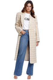 Camilla and Marc Somers Coat Citris Check