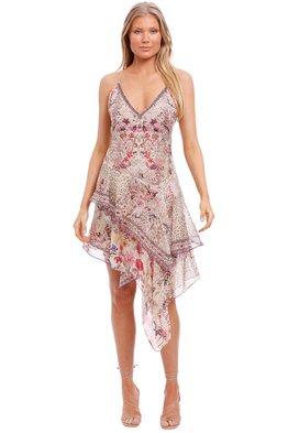 CAMILLA - Asymmetrical Flared Mini Dress - Drifting Dreamer