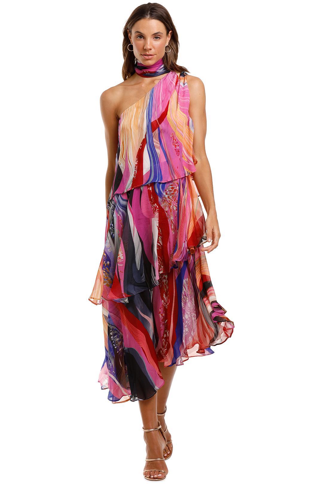Camilla - Asymmetrical Neck Tie Dress