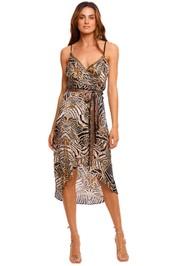Camilla Asymmetrical Wrap Dress With Straps