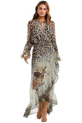 Camilla Blouson Sleeve Wrap Dress Nomadic Nymph long sleeve