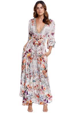 Camilla Button Dress With Shaped Waistband maxi