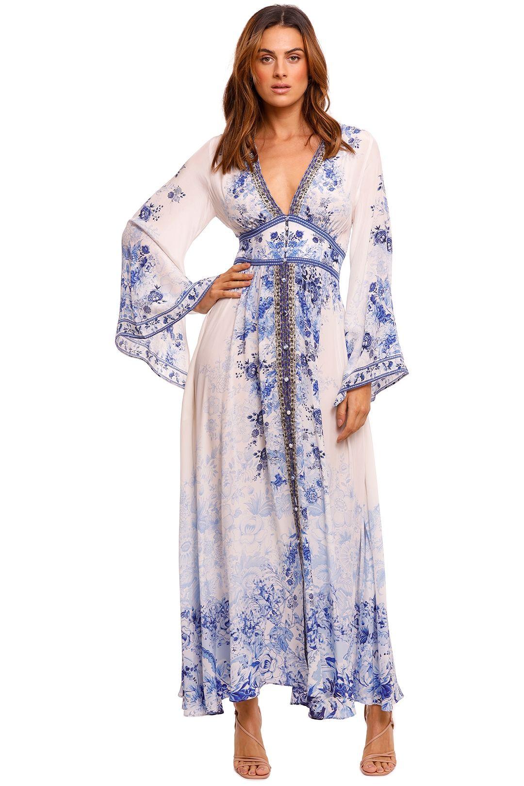 Camilla Kimono Sleeve Dress With Shirring Detail