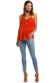 Camilla Lace Up Front Cami
