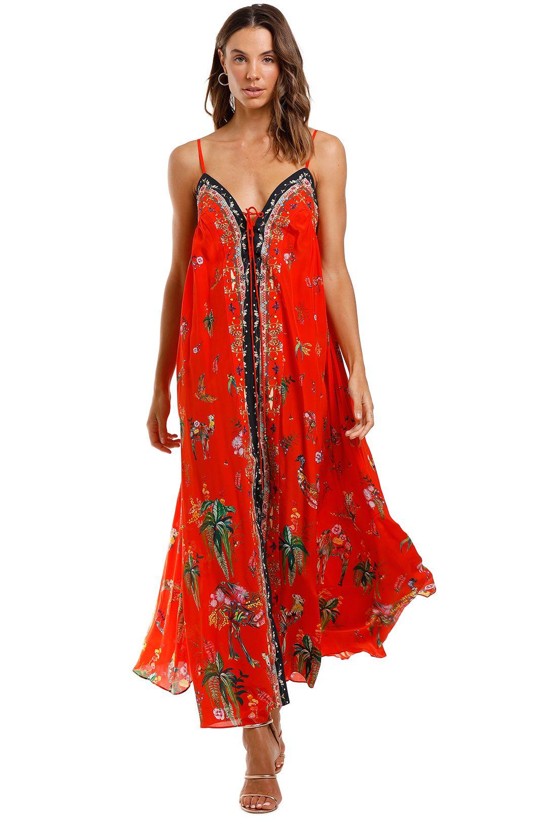 Camilla Lace Up Front Dress Cinema Paradiso Boho