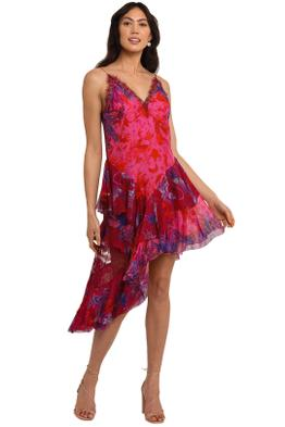 Camilla Layered Asymmetrical Dress Tropic Of Neon floral