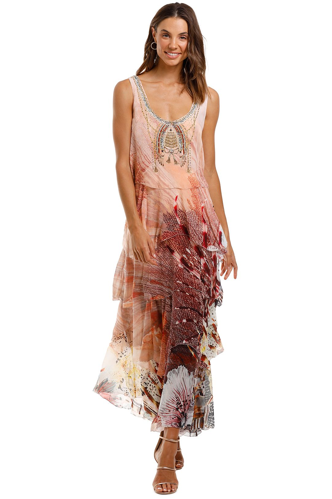 Camilla Layered Frill Long Dress