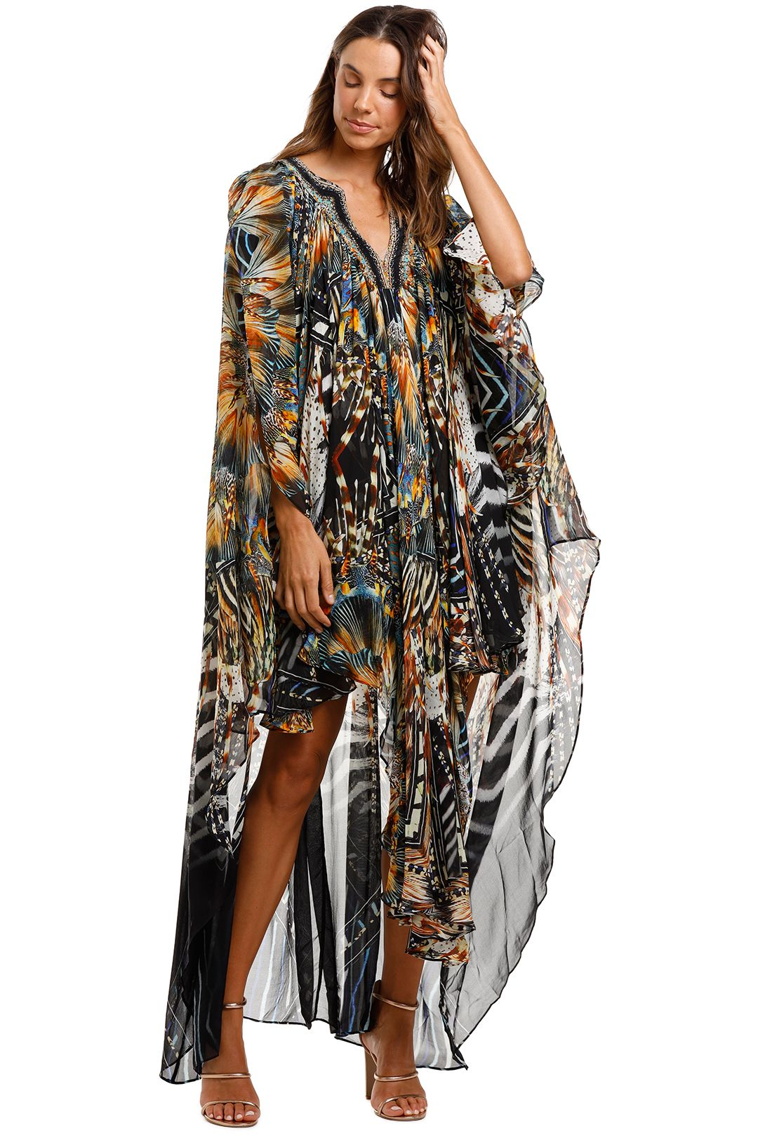 Camilla Long Angel Cape Lost Paradise Black