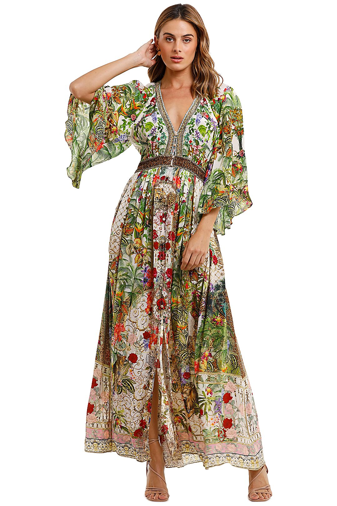 Camilla Long Dress With Smocked Waist Fair Verona