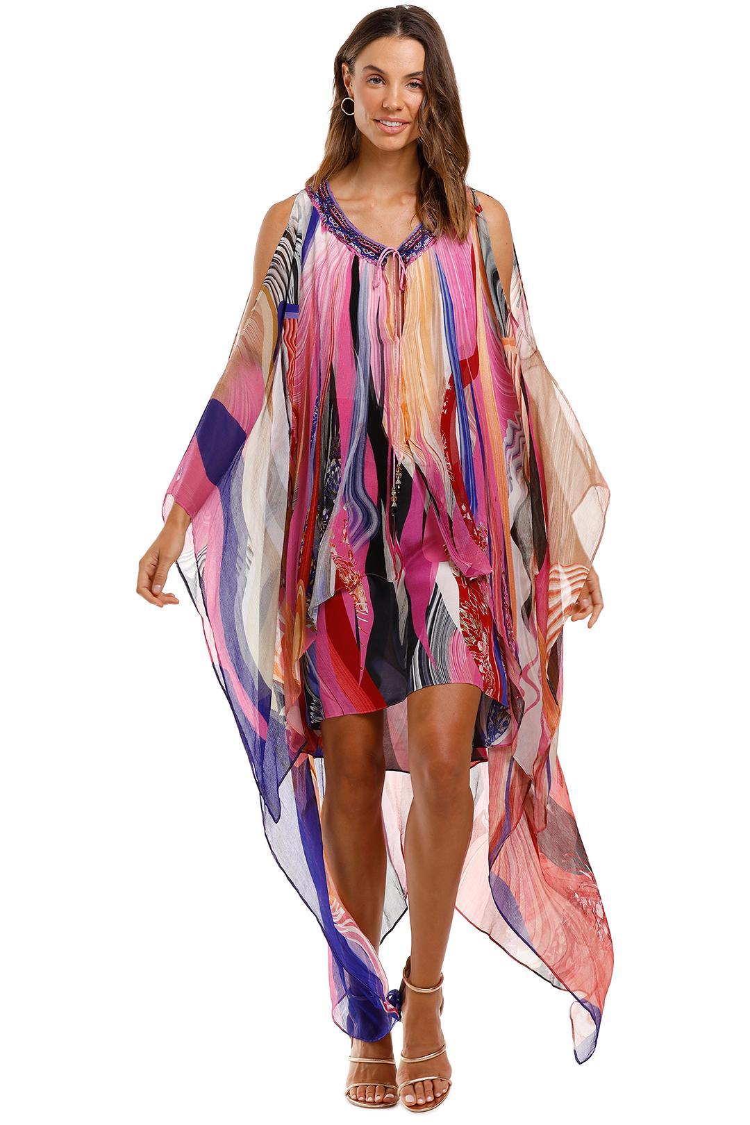 Camilla - Long Sheer Overlay Dress
