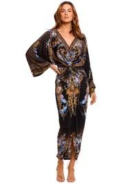 Camilla Long Split Front Twist Dress