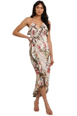 Camilla Long Wrap Dress With Frill Star Crossed Lovers