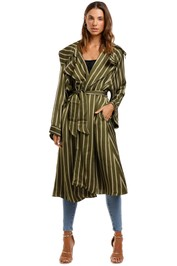 Camilla Loose Longline Trench Among The Gumtrees Stripe Jacket