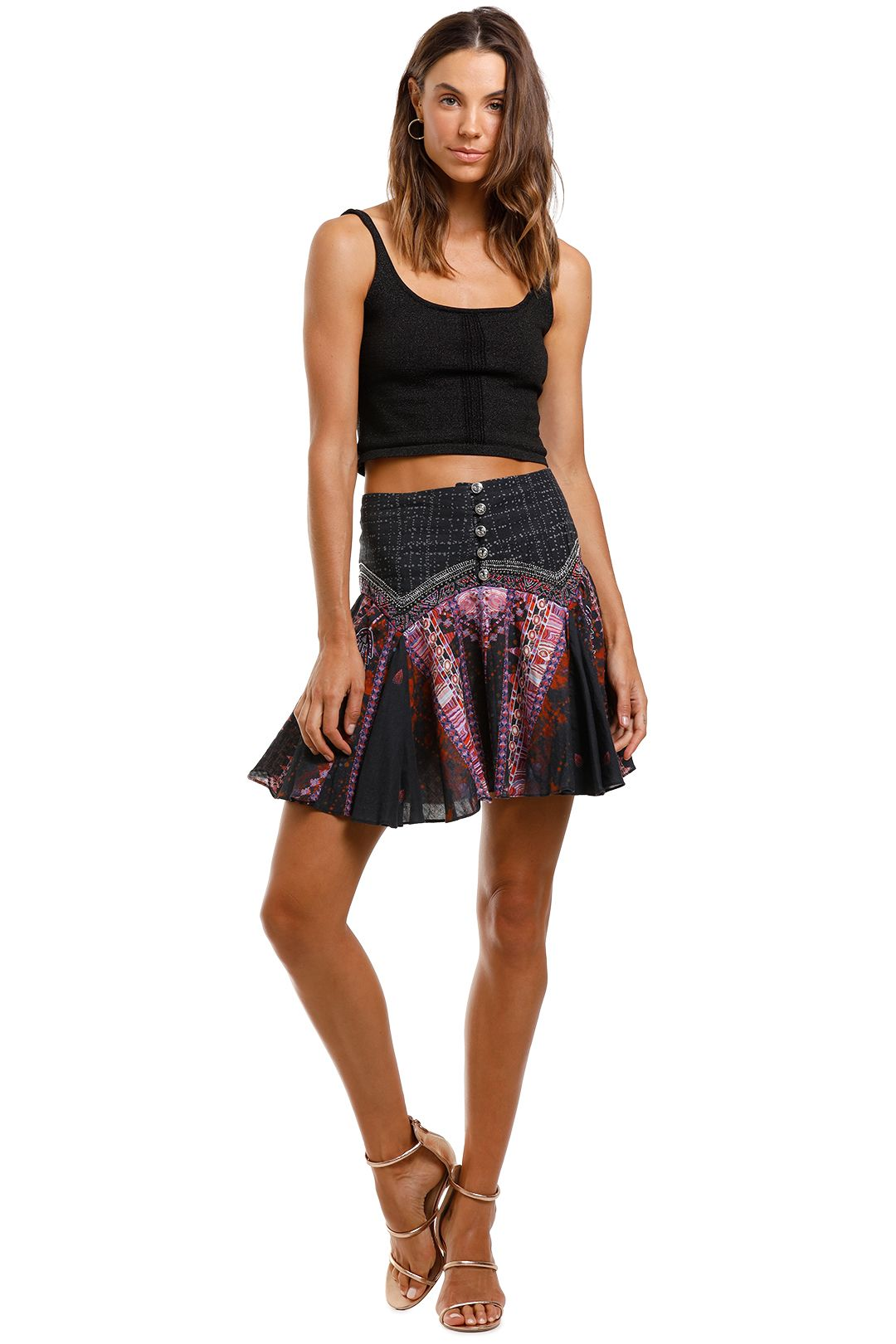 Camilla Mini Skirt With Shaped Yoke