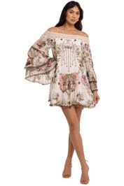 Camilla Off Shoulder Dress With Smocking Star Crossed Lovers