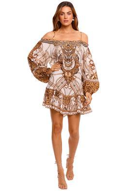 Camilla Off Shoulder Dress With Straps print