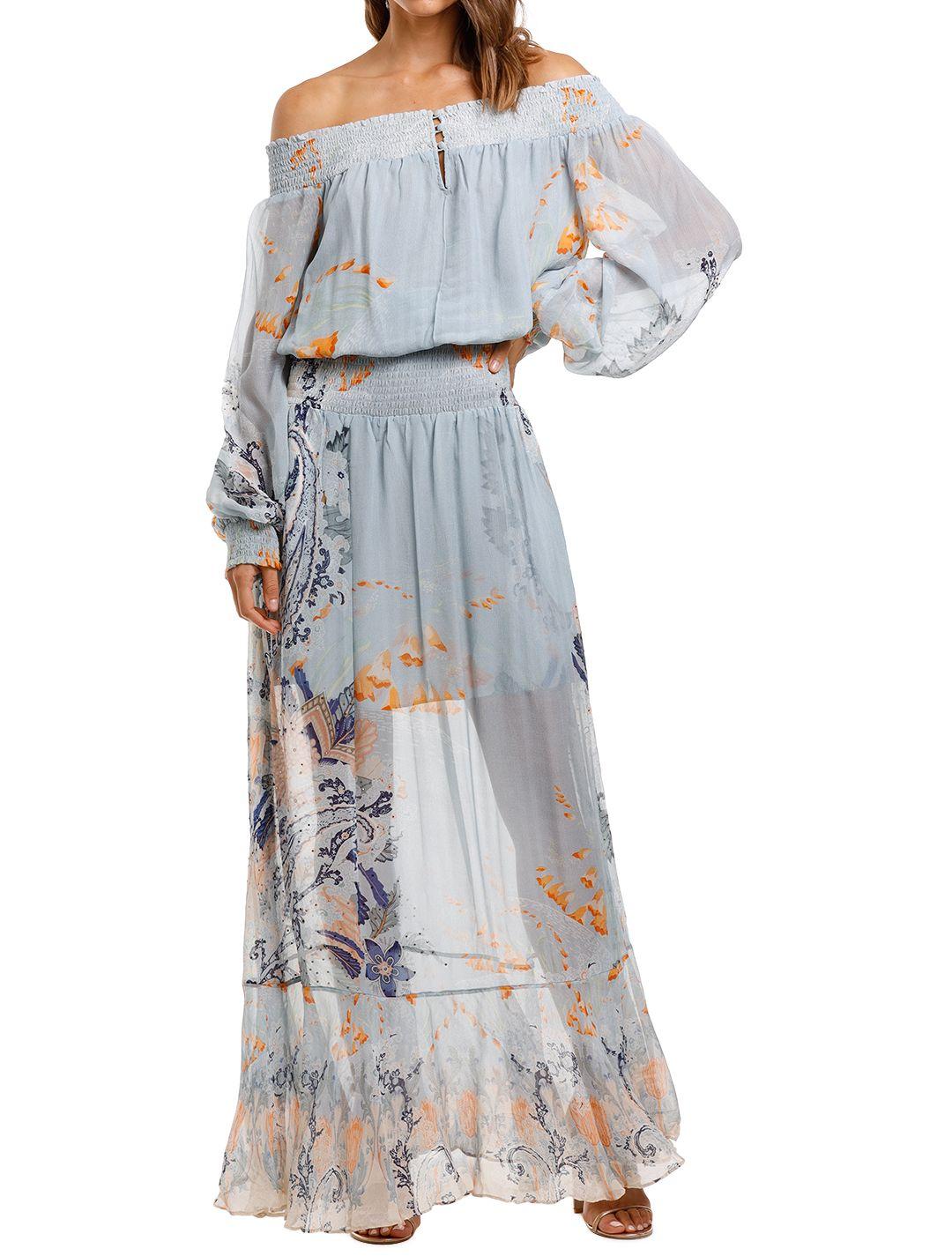 Camilla Off Shoulder Shirred Dress