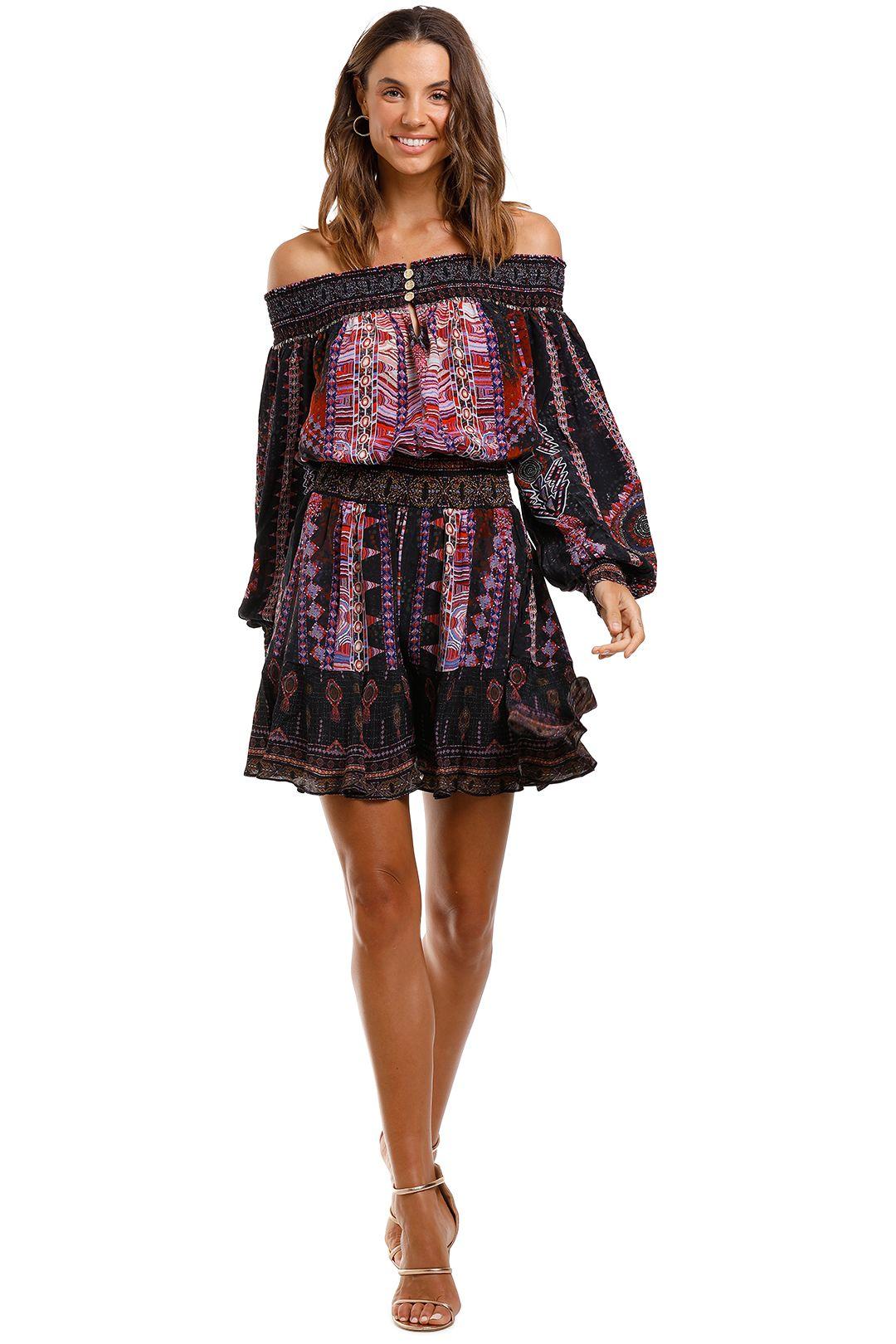 Camilla Off Shoulder Short Dress mini