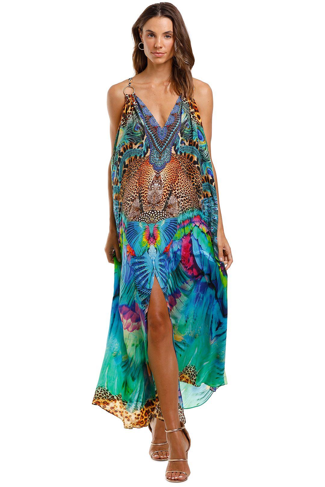 Camilla Ring Detail Strap Dress Maxi Sleeveless Kaftan