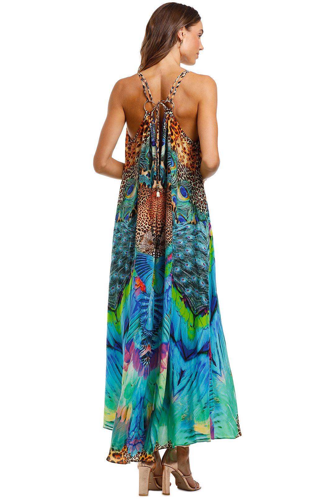 Camilla Ring Detail Strap Dress Boho V Neck