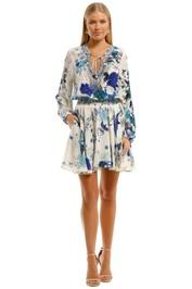 Camilla Shirred Relaxed Short Dress Floral Print