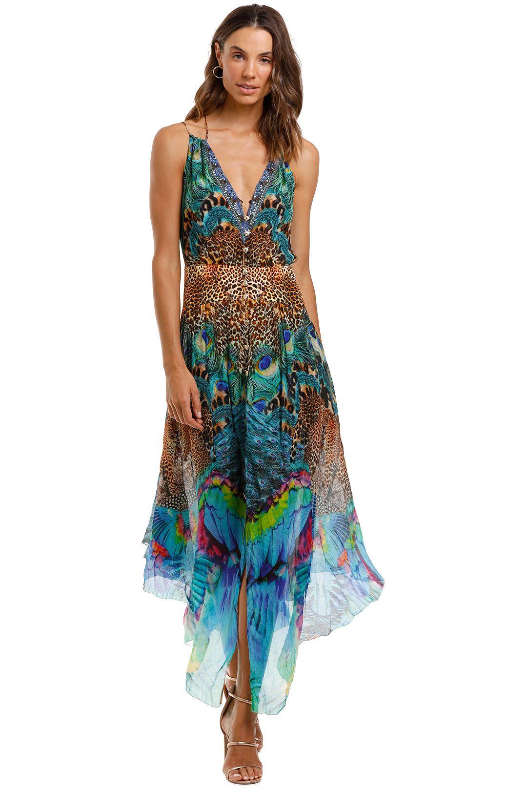 Camilla Strap Dress With Shaped Waistband Boho