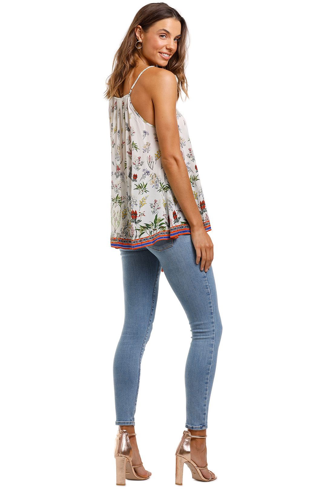 Camilla Strap Top With Tie Front Detail Boho Cami