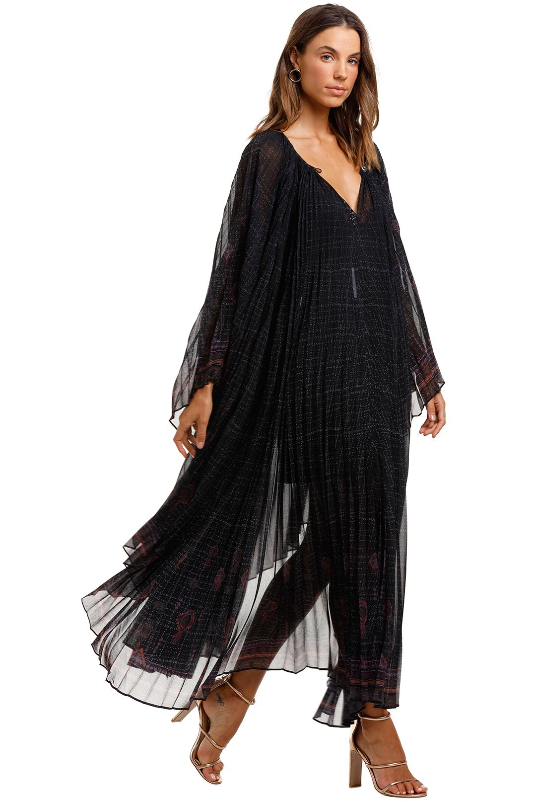Camilla Sunray Pleated Kaftan Mina Mina Pleated Fabric