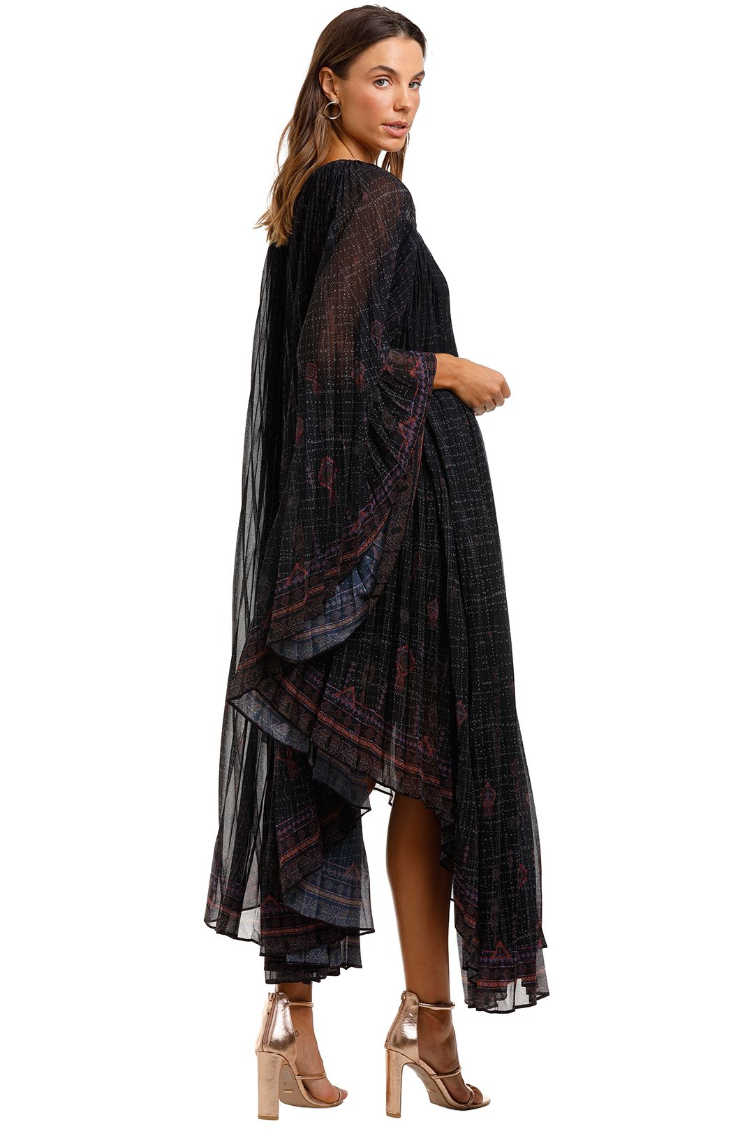 Camilla Sunray Pleated Kaftan Mina Mina Purple Print