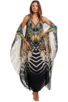 Camilla V Neck Dress With Back Overlayer