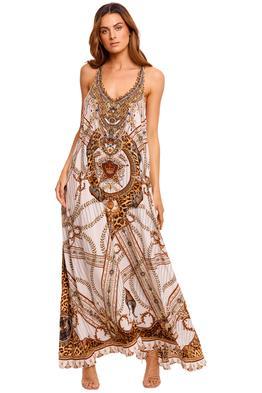 Camilla V Neck Racerback Dress maxi