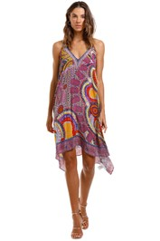 Camilla V Neck Strappy Flare Dress
