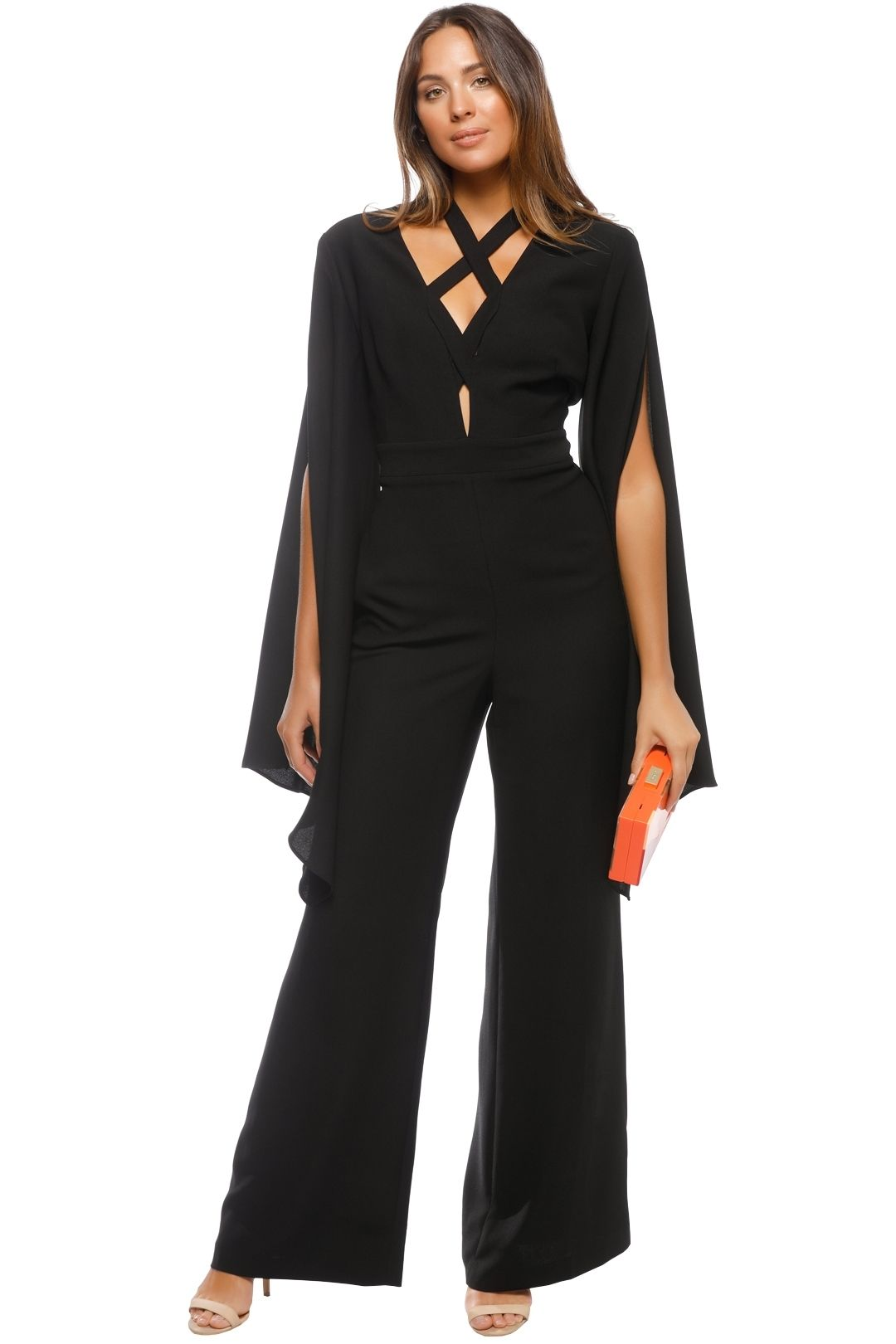 Carla Zampatti - Angels Wings Jumpsuit - Black - Front