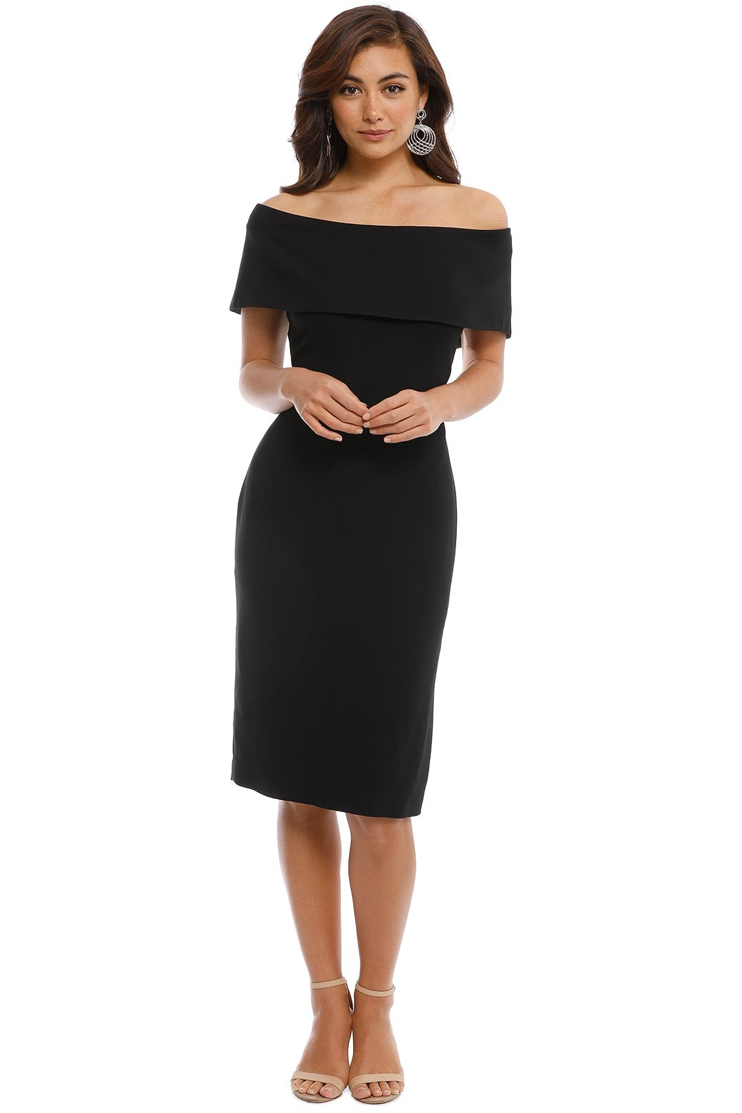 Carla Zampatti - Black Sabrina Sheath Dress - Black - Front