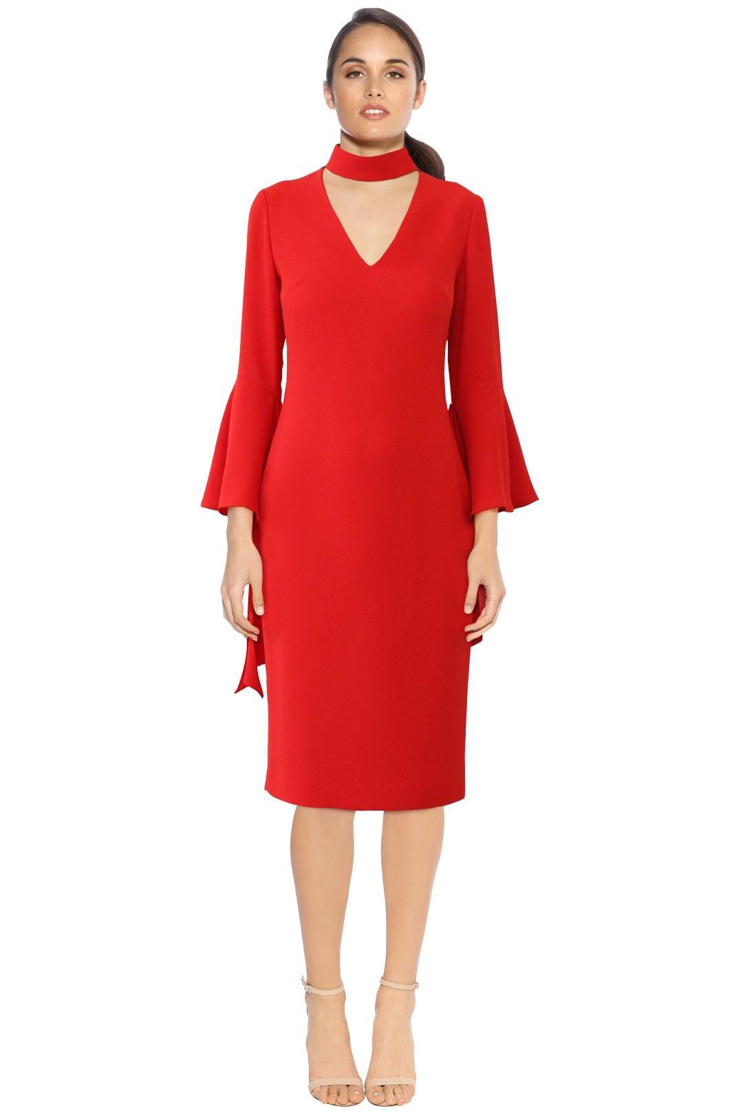 Carla Zampatti - Senorina Dress - Red - Front