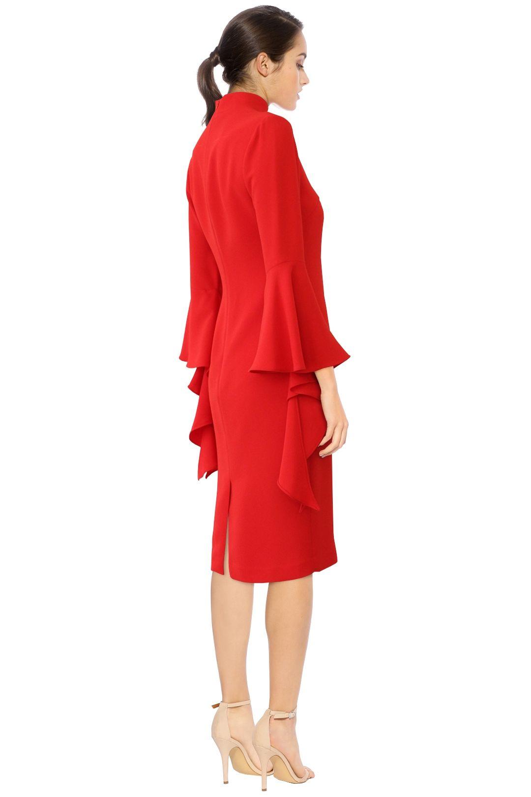 Carla Zampatti - Senorina Dress - Red - Back