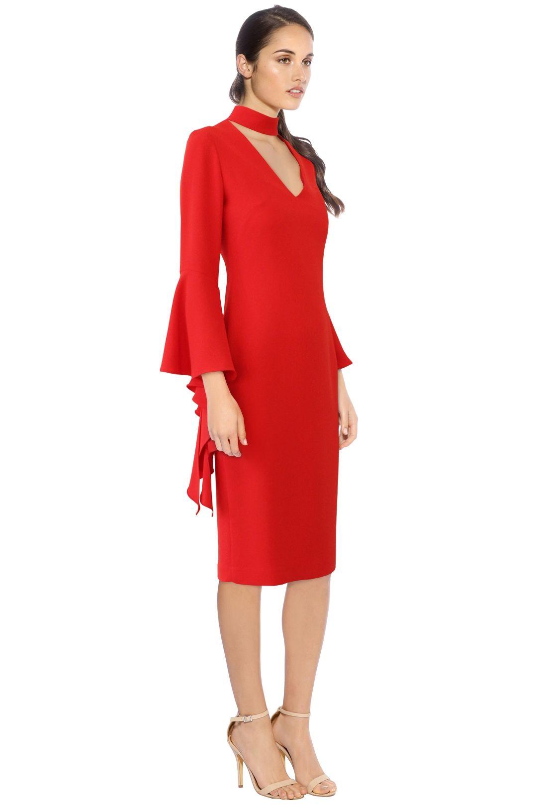 Carla Zampatti - Senorina Dress - Red - Side