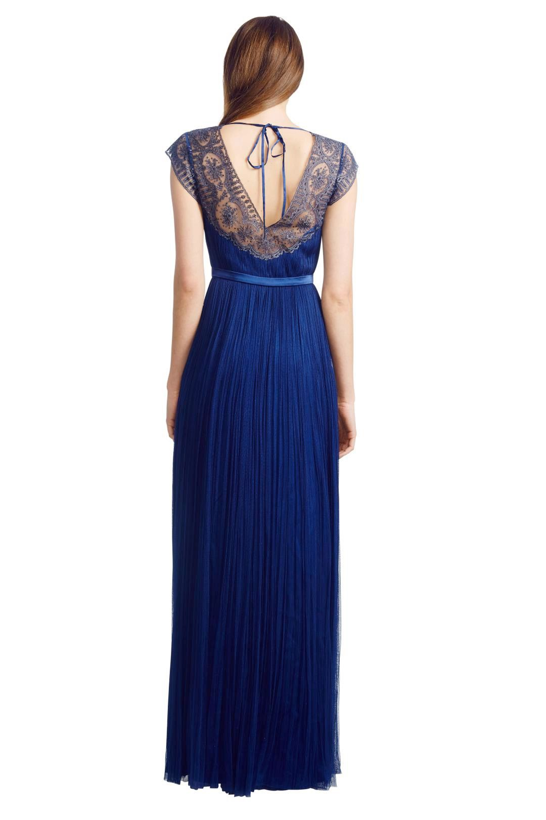 Catherine Deane - Silk Tulle Gown - Blue - Back