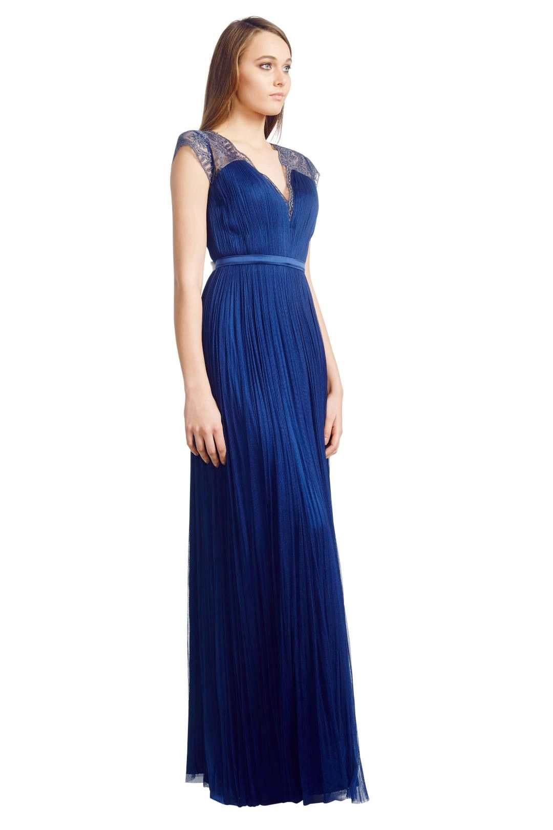 Catherine Deane - Silk Tulle Gown - Blue - Side