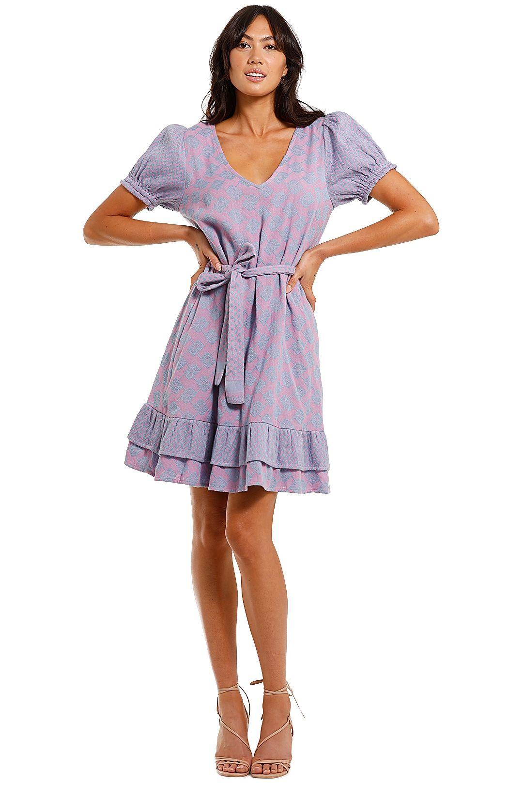Cecilie Copenhagen Livia Mini Dress Lilac v neck