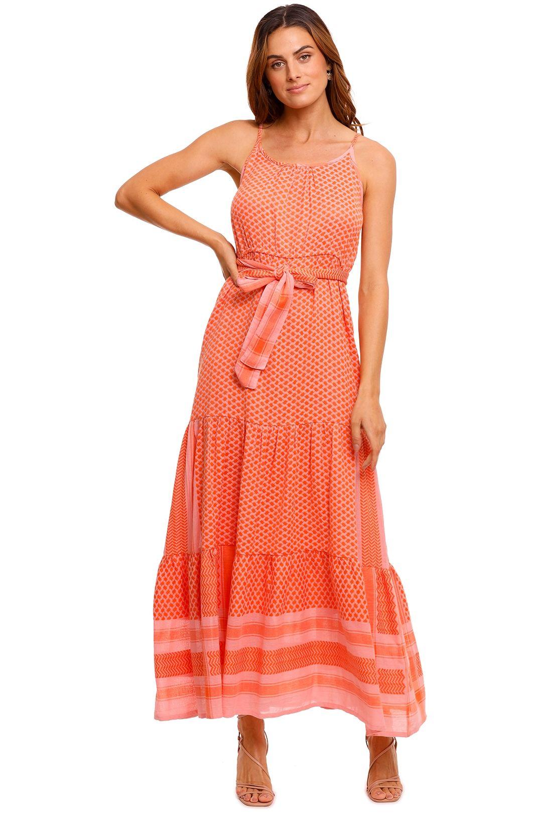 Cecilie Copenhagen Rose Sleeveless Maxi Dress print
