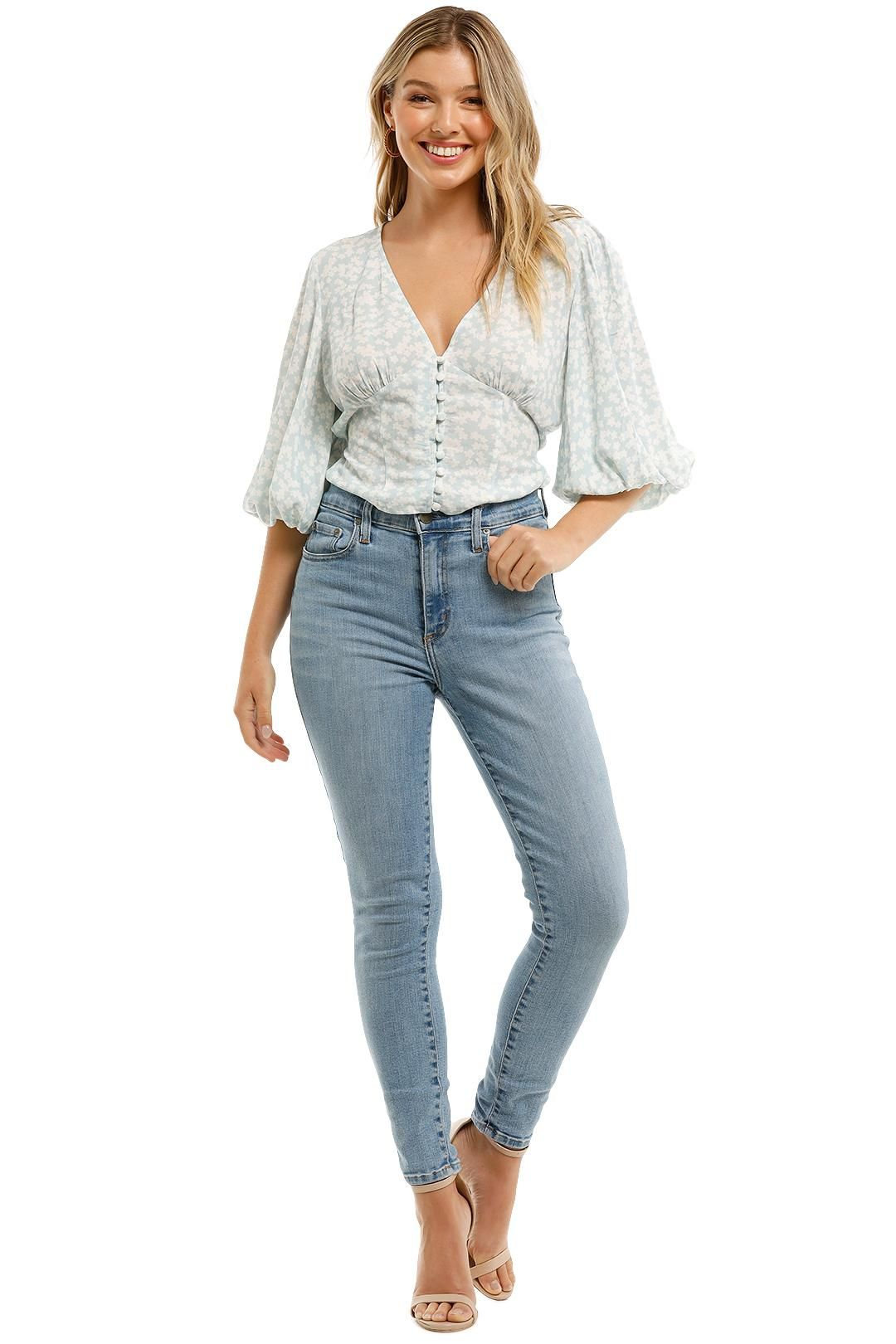 Charlie Holiday Cali Blouse Bloom