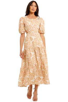 Charlie Holiday Flores Midi Dress