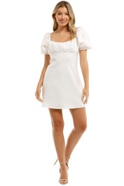 Charlie Holiday Lottie Mini Dress White